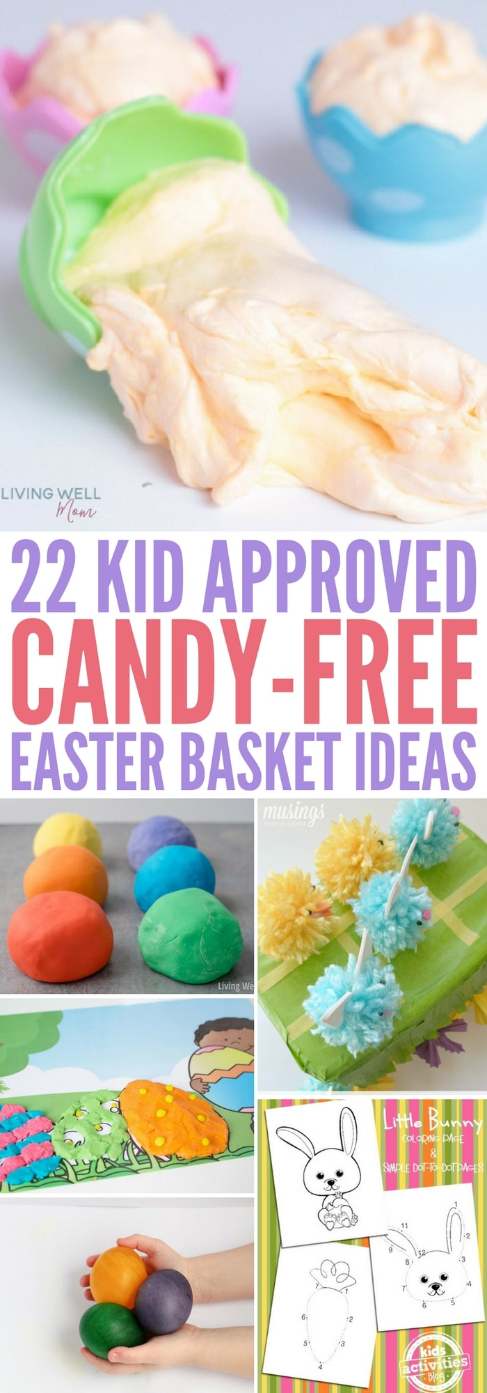 25 kid approved easter basket fillers that arent candy need some easter basket ideas these candy free easter basket fillers were picked out negle Image collections