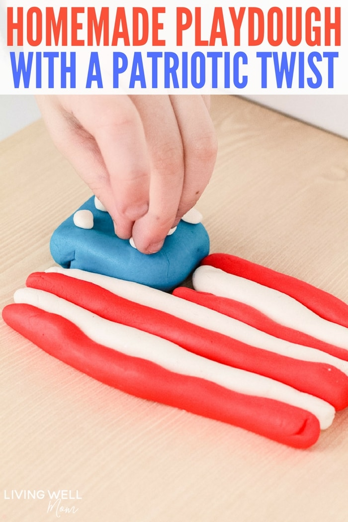 Homemade Playdough with a Patriotic Twist
