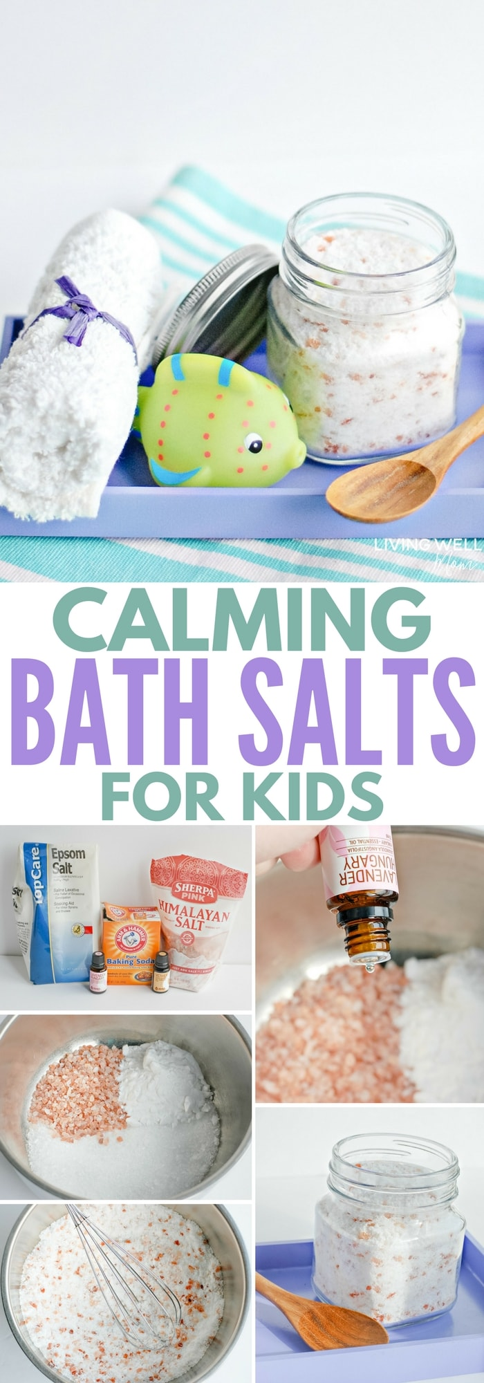 How to make calming bath salts for kids