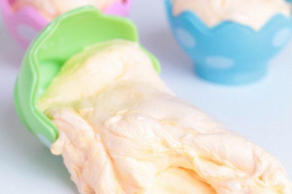 Fluffy slime in Easter eggs