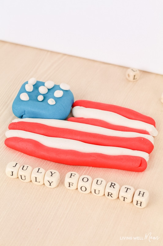 patriotic playdough