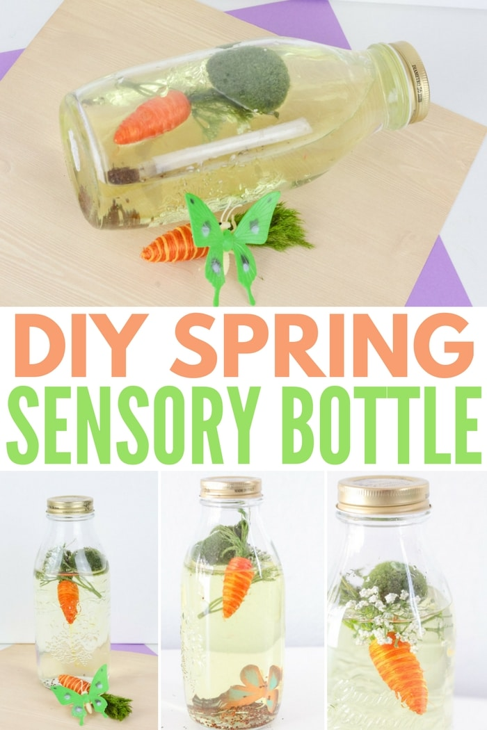 DIY Spring Sensory Bottle - Sensory Activity