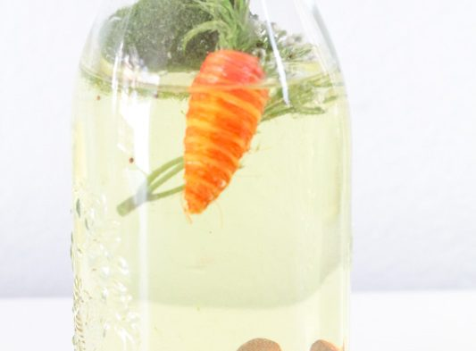 spring sensory bottle for children