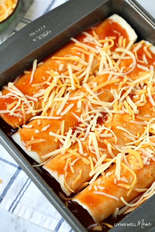 gluten-free beef and beans enchiladas