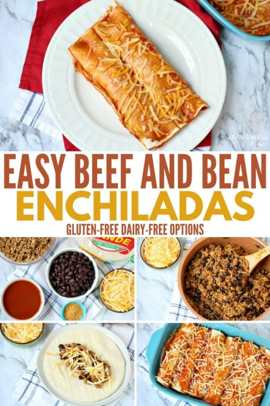 beef and bean enchiladas recipe