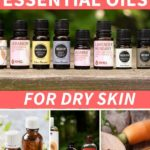 best essential oils for dry skincare with bottles
