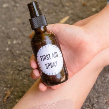 natural homemade first aid spray