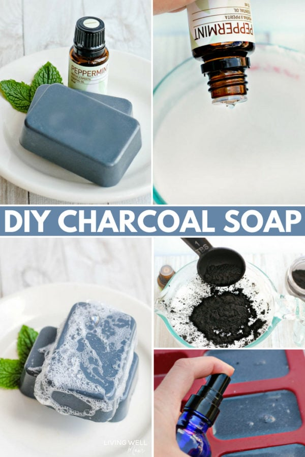 DIY Charcoal Soap Bars