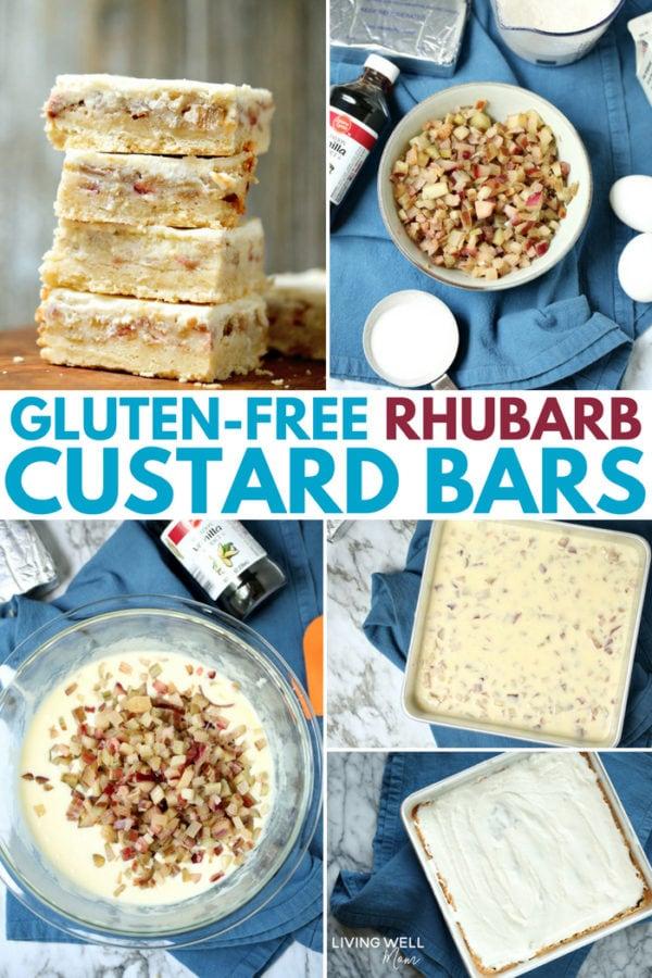gluten-free rhubarb custard bars recipe