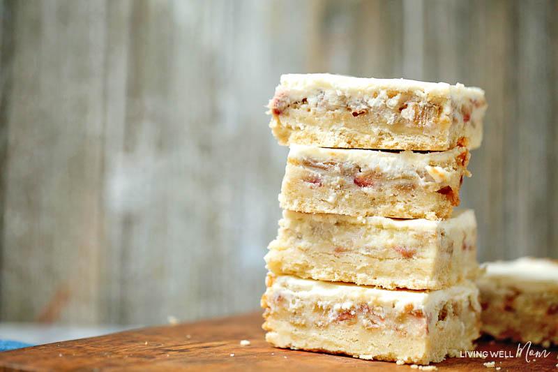 rhubarb custard bars gluten-free recipe