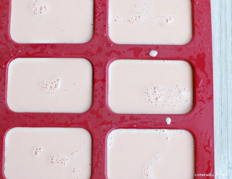 goat  milk soap in molds