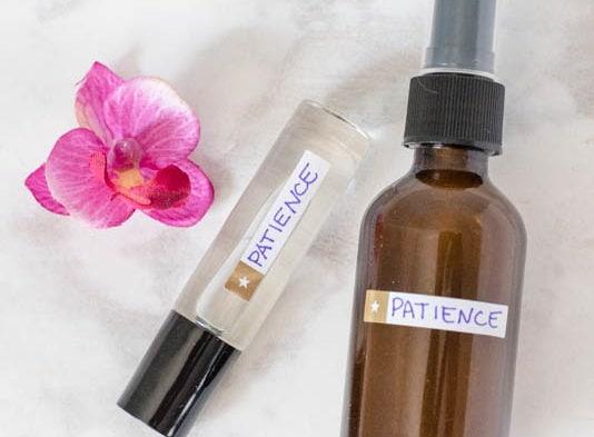 calming patience essential oil blend