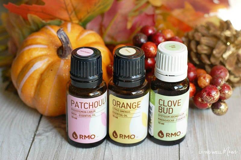 A close up of essential oils