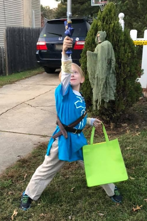 DIY sensory-friendly Zelda halloween costume for kids with autism