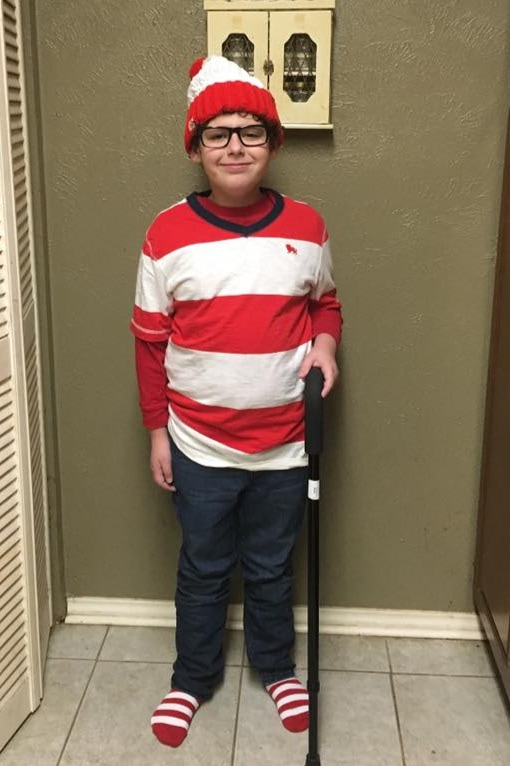 DIY Where's Waldo homemade Halloween costume - sensory friendly for kids and teens with autism