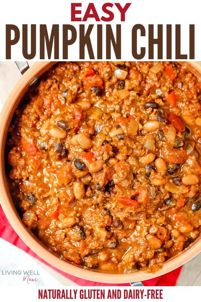 hearty easy one-pot pumpkin chili recipe easy dinner