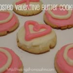 frosted valentine butter cookies