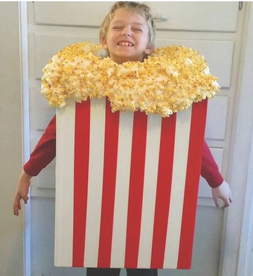 DIY Popcorn Halloween costume idea