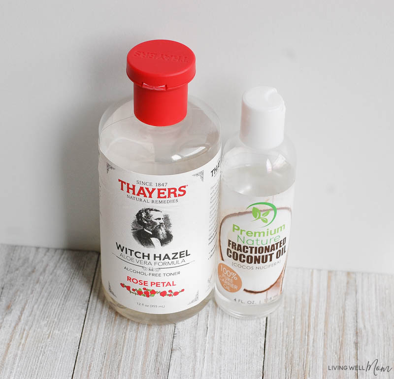 witch hazel and fractionated coconut oil