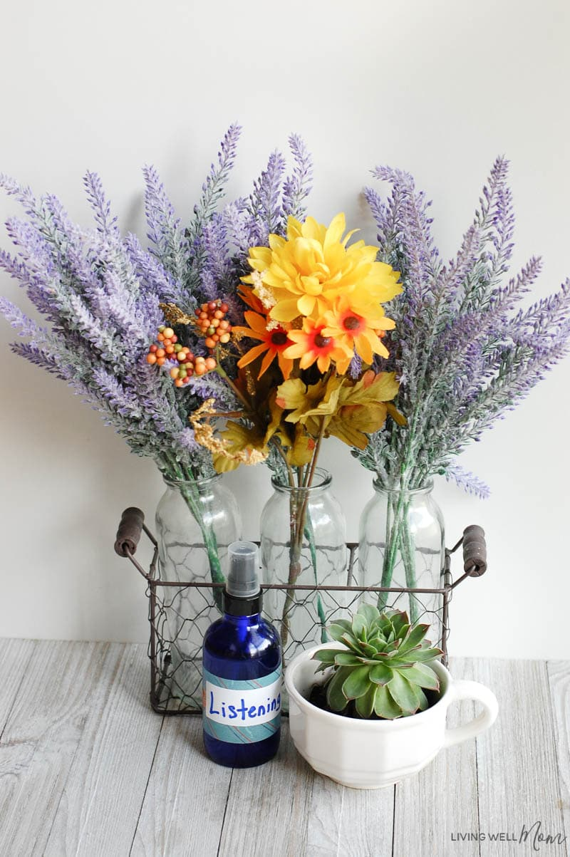 A bouquet of flowers in a vases on a table