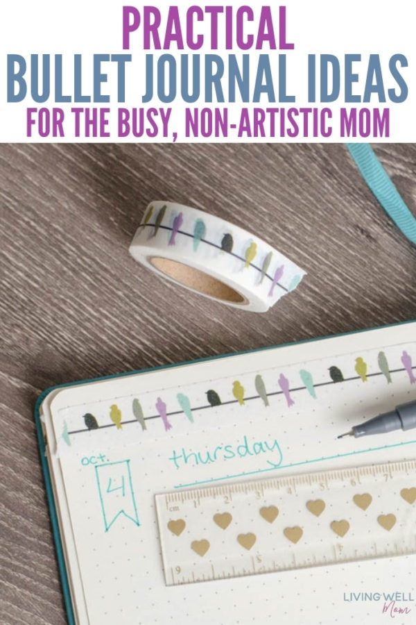journal ideas for non-artistic mom
