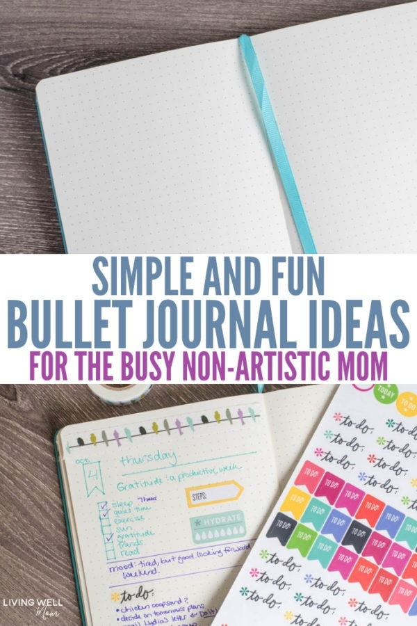 journal ideas for non-artistic moms