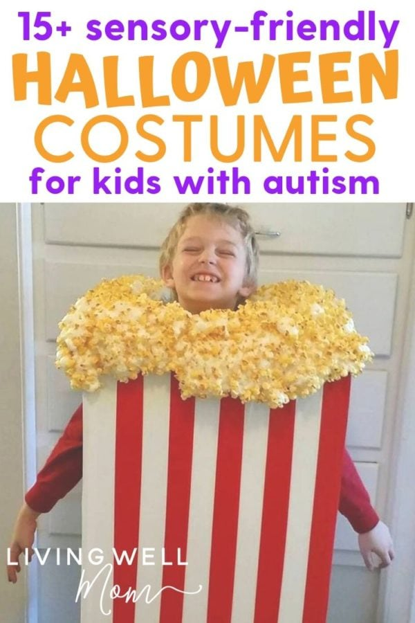boy in a popcorn costume that's sensory friendly
