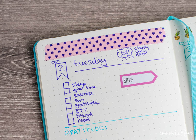 simple, bullet journal layout ideas for busy moms