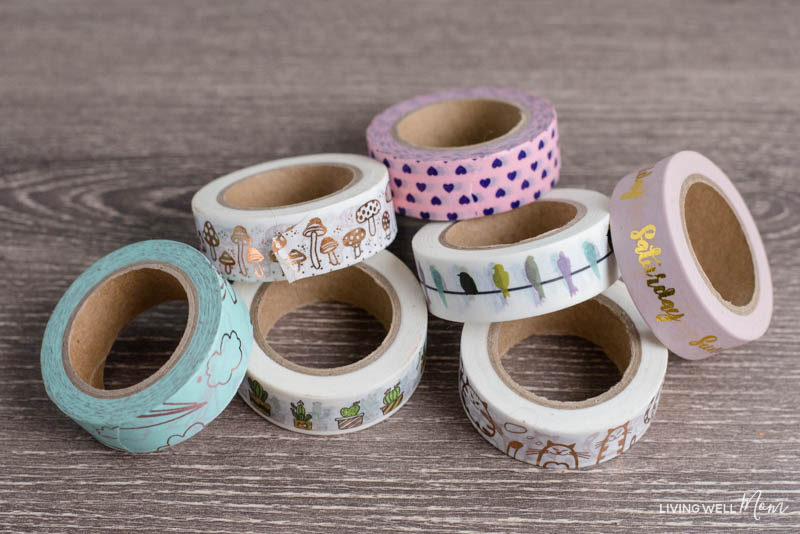 washi tape for bullet journaling
