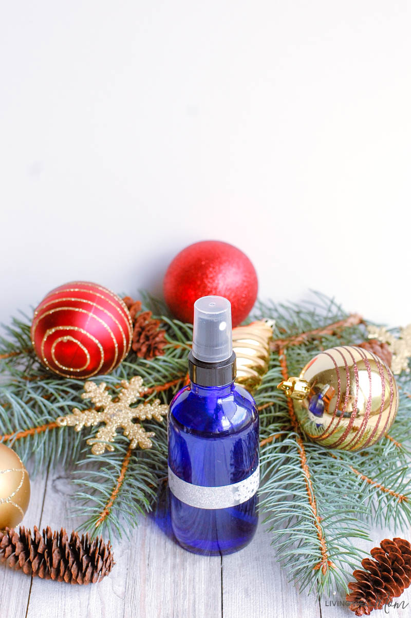 essential oils spray bottle for the holidays