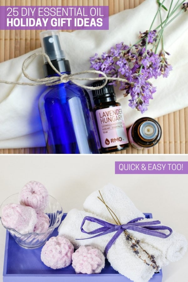 DIY essential oil holiday gift ideas
