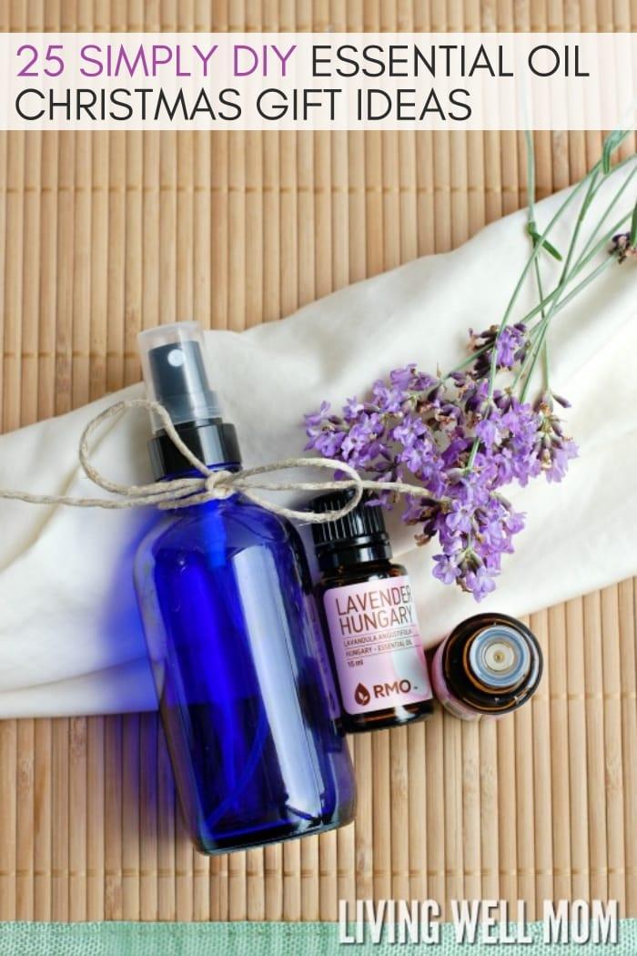 simple DIY essential oil Christmas gift ideas