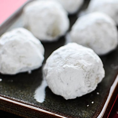 gluten free snowball cookies recipe