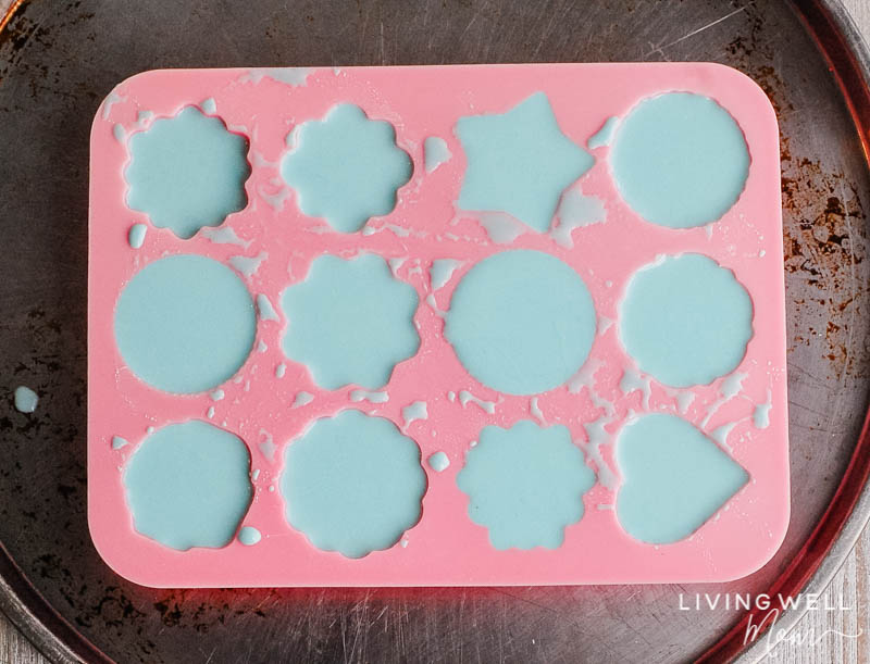batter in the molds