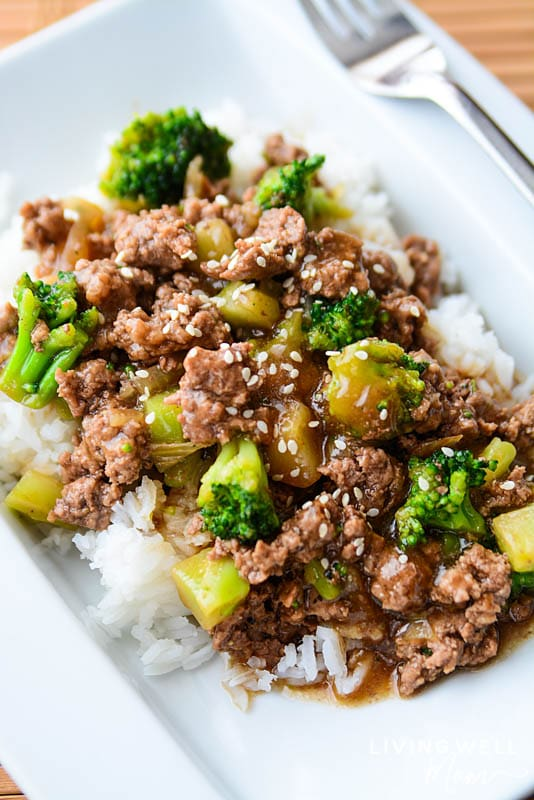 Ground beef and broccoli- easy and quick dinner recipe