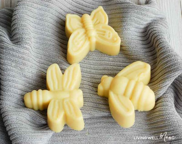 DIY insect repellent lotion bars for kids