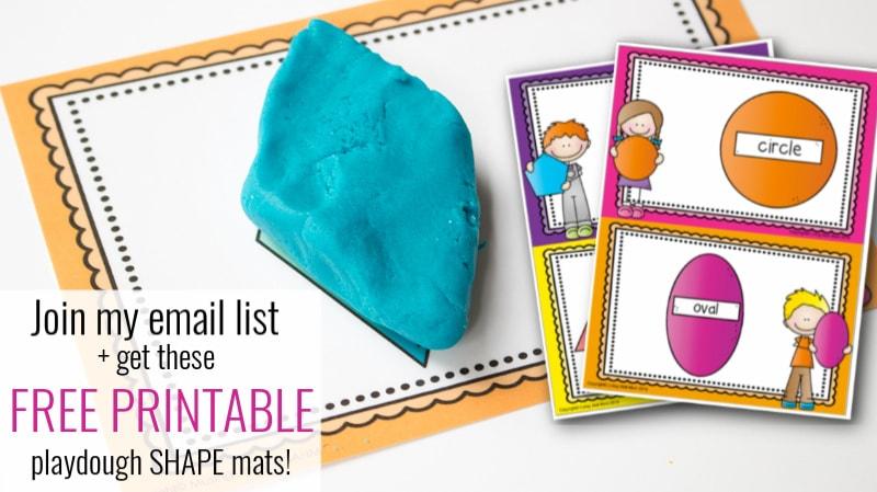 blue playdough in a diamond shape on a shape flash card