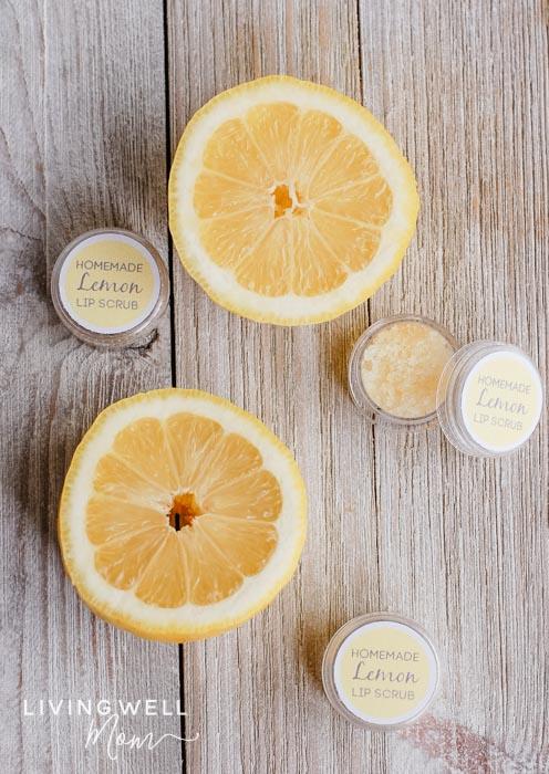 Diy sugar lip scrub with essential oils