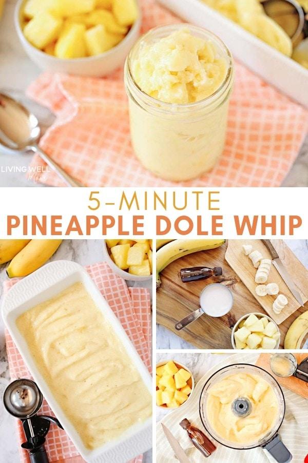 Recipe for homemade Pineapple Dole Whip dessert