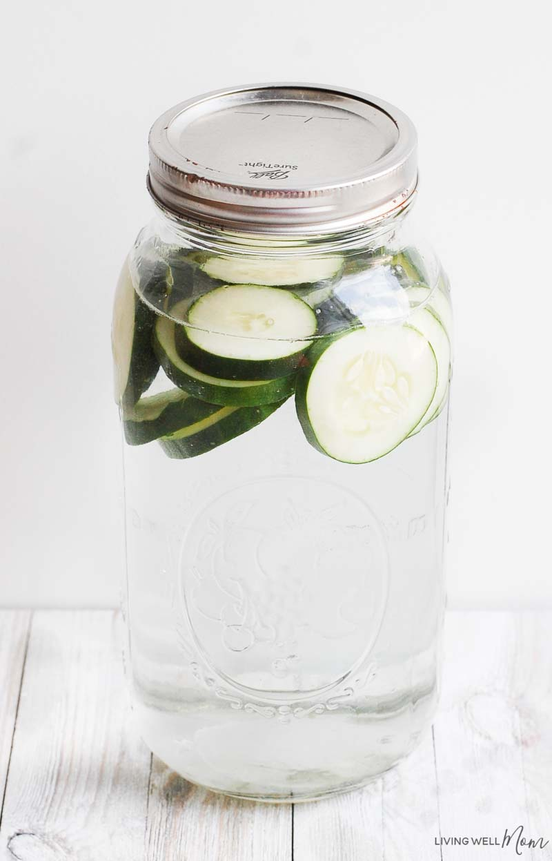 cucumber infused water for diy face toner