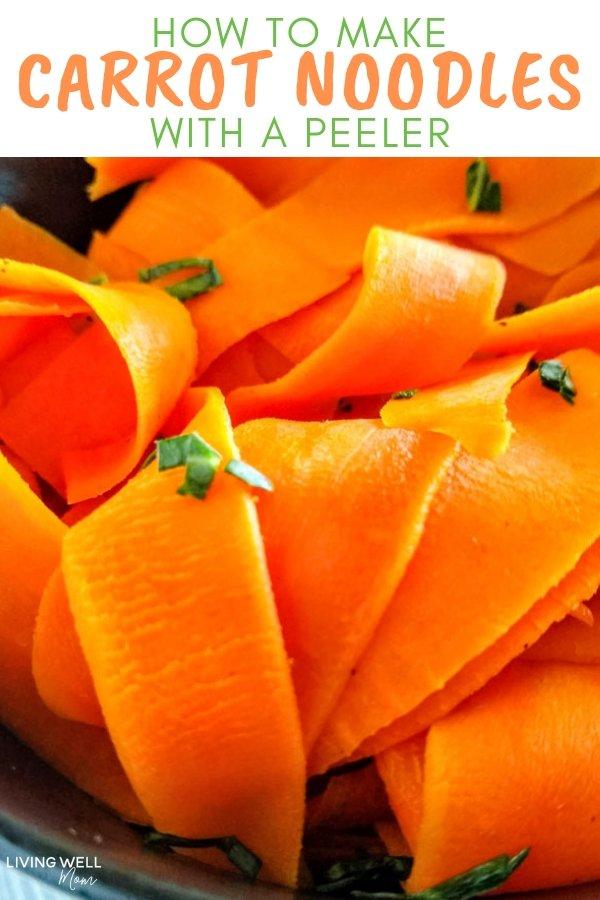 make carrot noodles using a peeler
