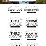 free printable first day of school signs for all grades 2019-2020
