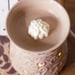 homemade flower shaped scented wax melt in wax warmer