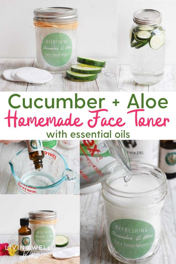 cucumber aloe vera homemade face toner