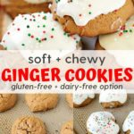 soft and chewy ginger cookies with gluten-free dairy-free option