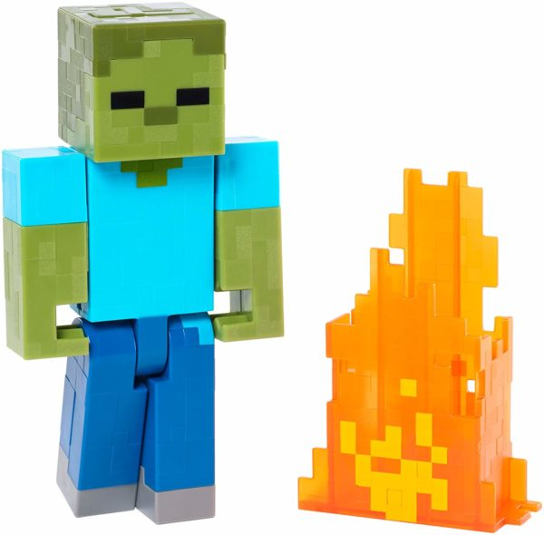 minecraft zombie action figure toy