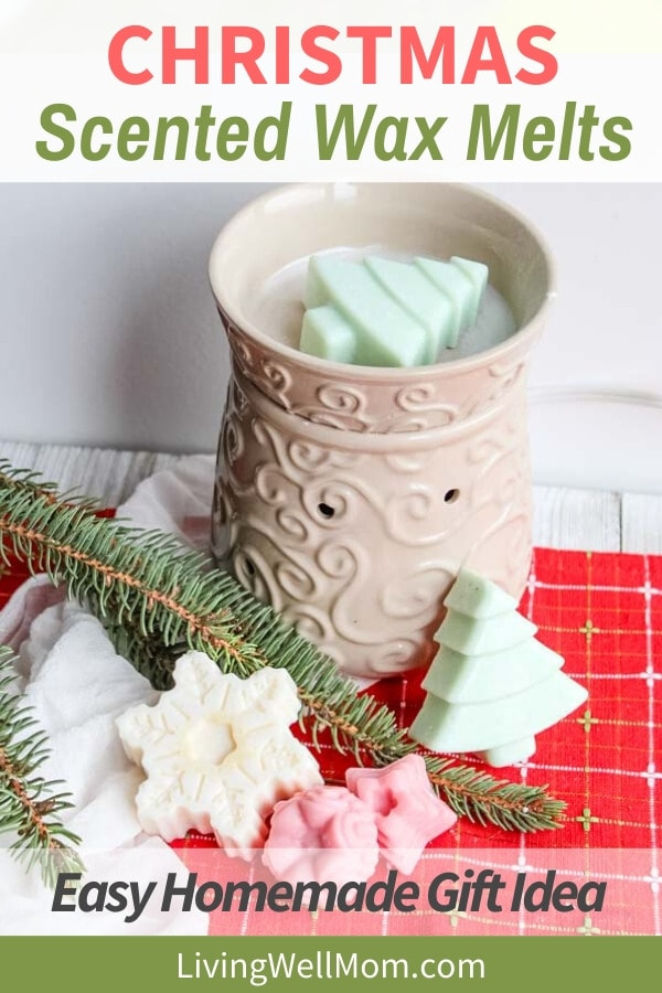 homemade Christmas scented wax melts in a warmer
