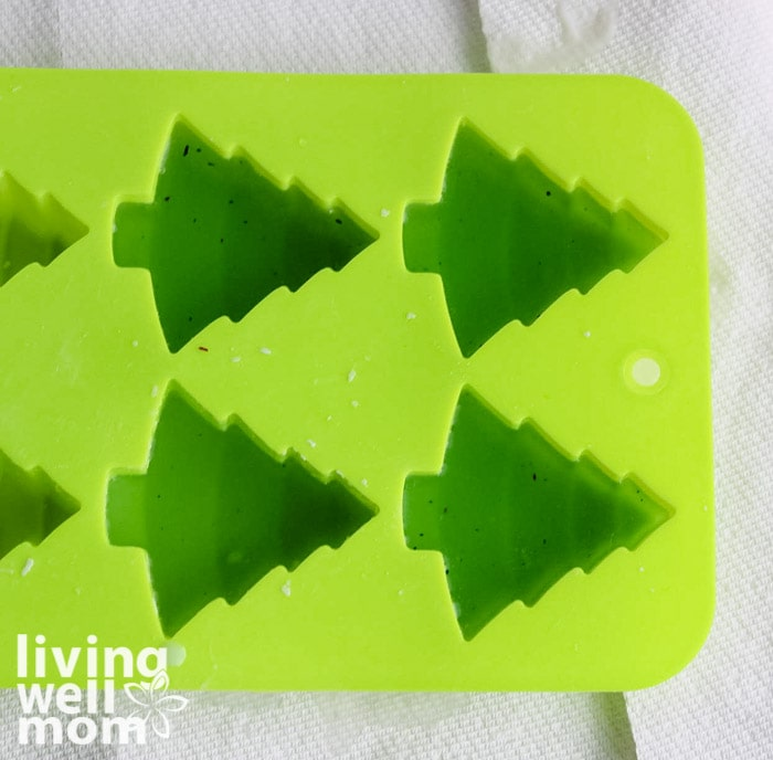 Christmas tree mold - making scented wax melts
