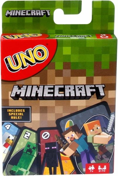 Minecraft Uno card game