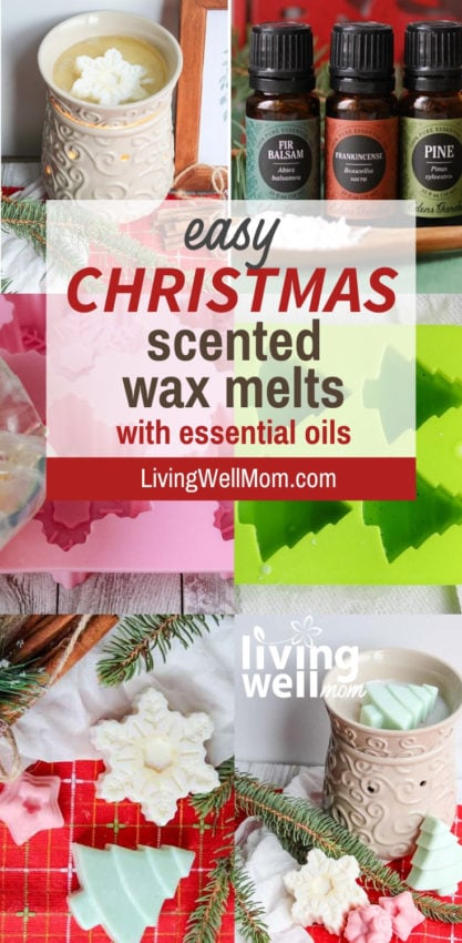 easy DIY Christmas scented wax melts with essential oils